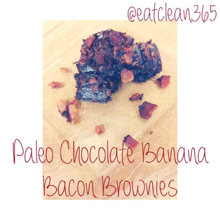 Paleo Chocolate Banana Bacon Brownies