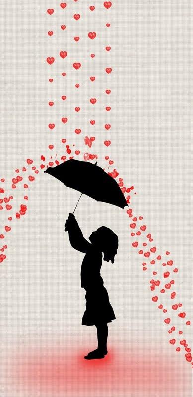 Raining-hearts