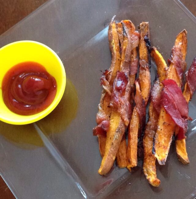 Bacon Wrapped Sweet Potato Fries Final