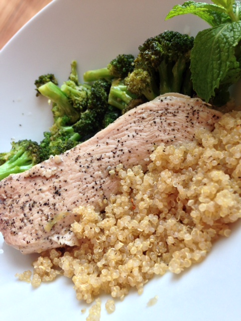 Chicken broccoli quinoa