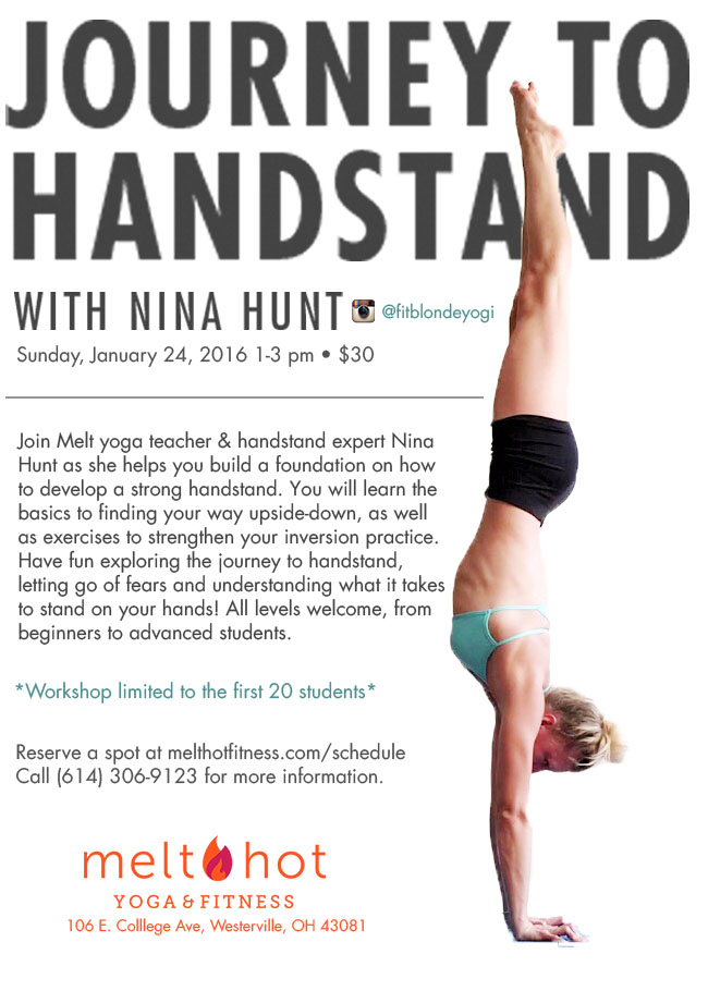 Handstand Workshop & Added Yoga Classes!