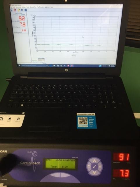 RMR testing screen